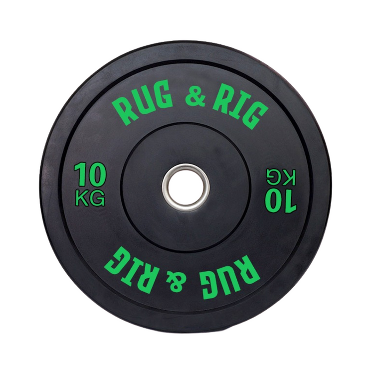 50KG Black Olympic Bumper Plates and Barbell (20KG) Set
