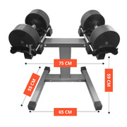 Rug & Rig Adjustable Dumbbell Pair 32KG with Stand