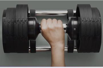 Dumbbells Adjustable Weight Set with 10 Angle Adjustable Bench