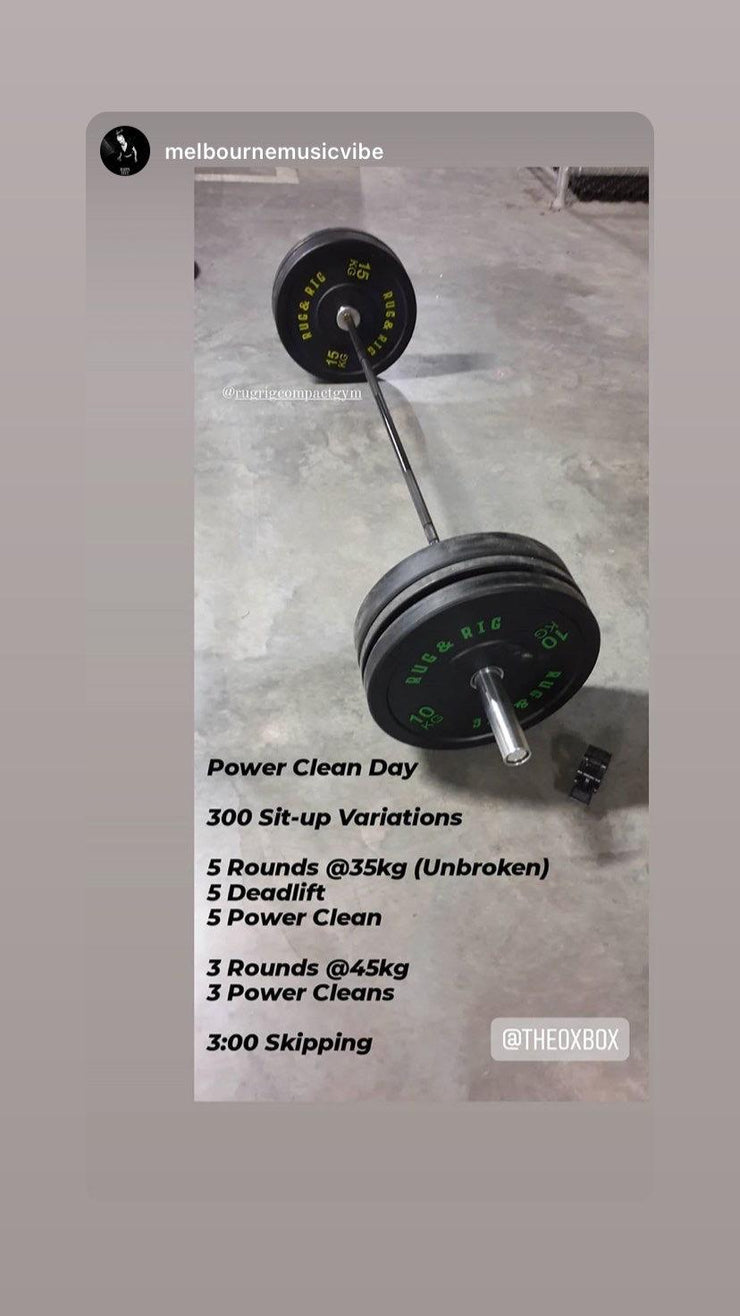 20KG Olympic Barbell with Spring Collars - 700LBS