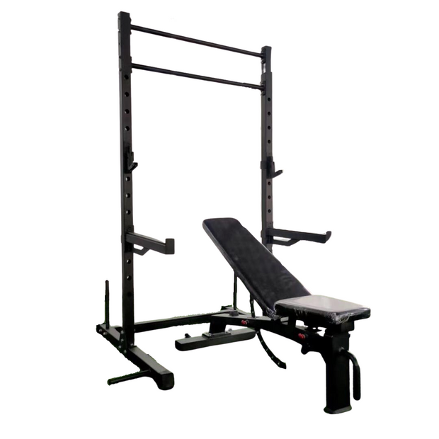 Rug & Rig Multi-Function Adjustable Power Rack with J-Hooks - IN STOCK