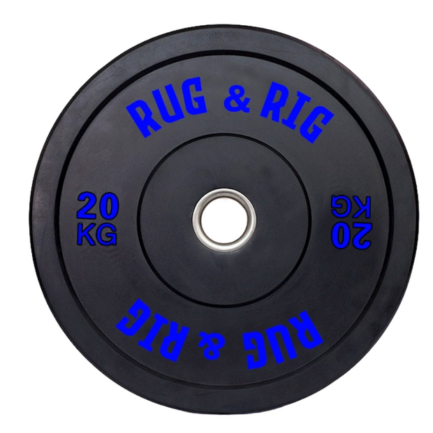 Rug & Rig Olympic Weightlifting Plate Set (Black) 170KG - IN STOCK