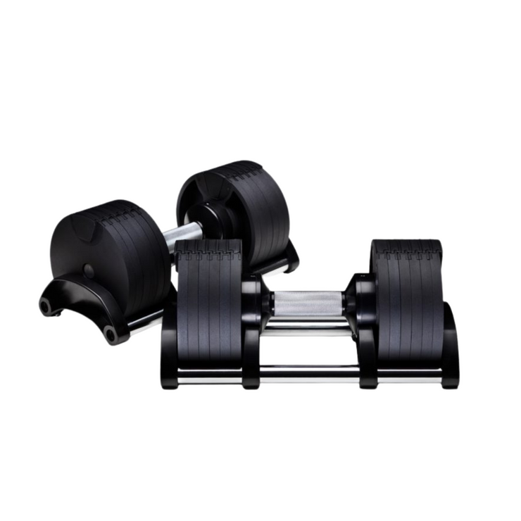 Adjustable Dumbbell Pair 32KG with Stand