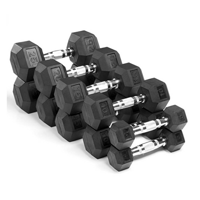RUG & RIG HEX DUMBBELL COLLECTION- 5KG to 30KG PAIR SET - IN STOCK