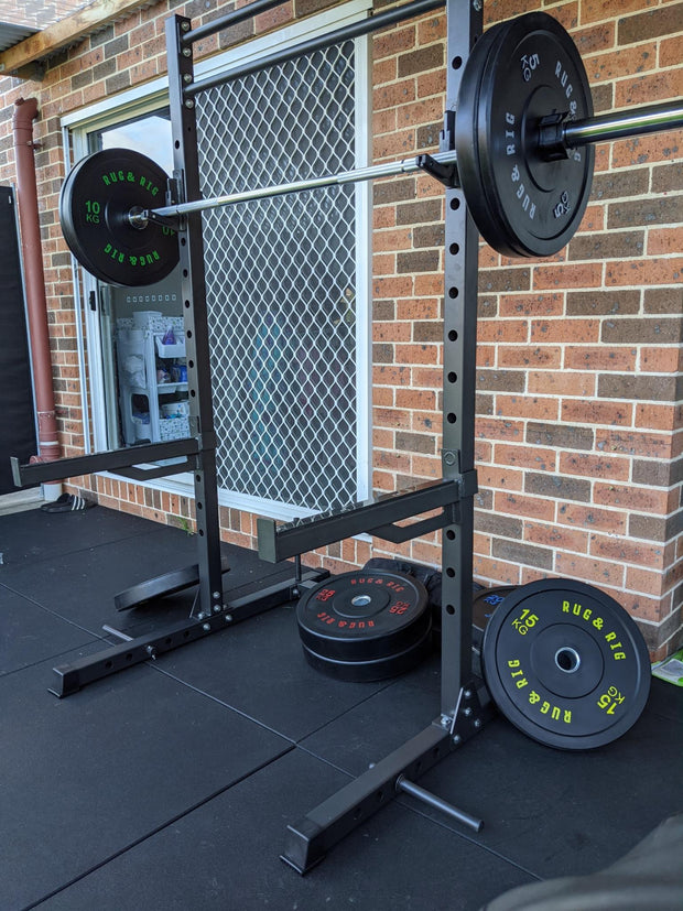 60 X 60 Multi-Function Adjustable Power Rack with J-Hooks
