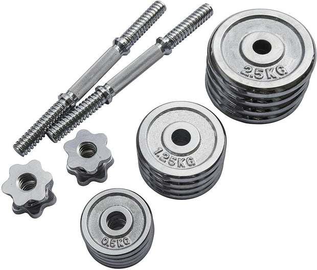 Chrome Plated Dumbbell Set - IN STOCK