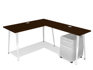 STAD Laminate L-Shaped Desk