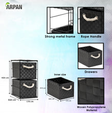 Load image into Gallery viewer, Arpan 2 Drawer Storage Cabinet Unit Ideal for Home/Office/bedrooms (2 Drawer Unit -18x25x33cm)