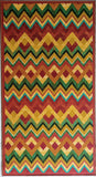 Colourful Zigzag Design Rugs / Runners - 100% Polyester Rug with Anti-slip Latex back