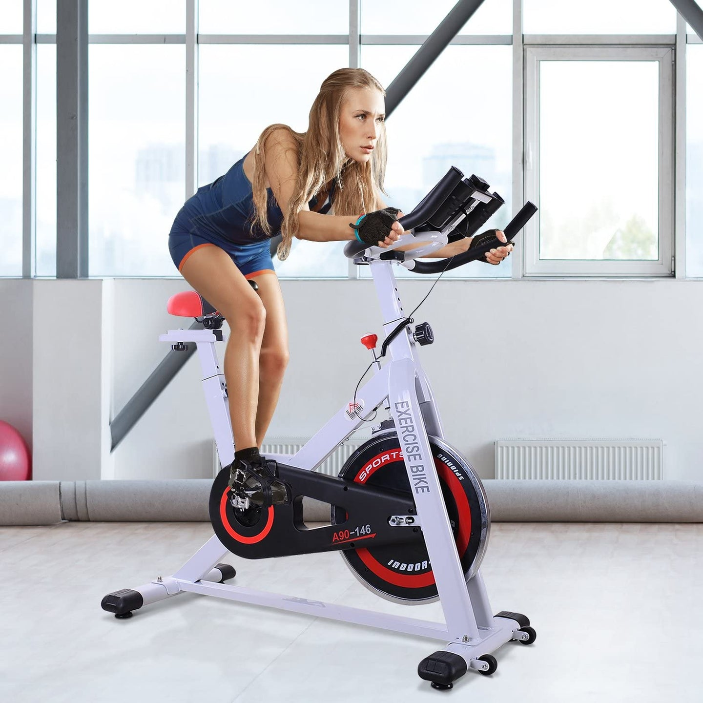 HOMCOM 8kg Spinning Flywheel Exercise Bike