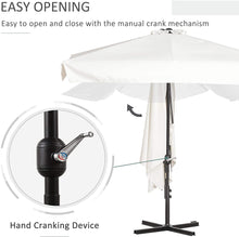 Load image into Gallery viewer, Outsunny 2.3m Half Parasol Semi Round Umbrella Patio Metal Frame Crank Handle for Balcony- NO BASE INCLUDED