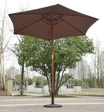Load image into Gallery viewer, Outsunny 2.5 m New Garden Patio Outdoor Wooden Parasol Sun Shade Umbrella Canopy - Coffee