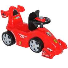 Load image into Gallery viewer, HOMCOM Kids Push Ride On Car W/Horn-Red