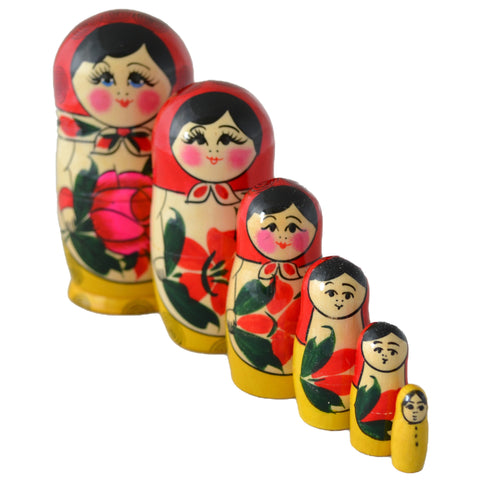 5 Piece Medium Matryoshka Dolls