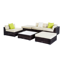Load image into Gallery viewer, Outsunny 6 PCS Rattan Funiture Set-Brown/Beige