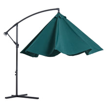 Load image into Gallery viewer, Outsunny 3M Banana Umbrella Parasol-Dark Green