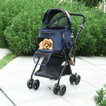 Load image into Gallery viewer, PawHut Oxford Cloth 2-in-1 Convertible Pet Stroller Blue/Orange