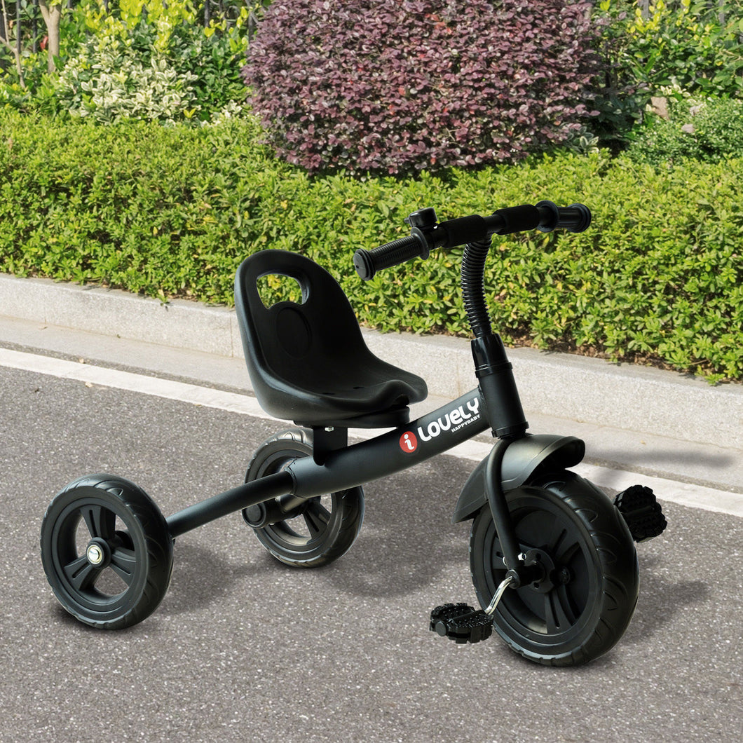 HOMCOM 3 Wheels Ride on Toddler Tricycle-Black