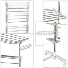 Load image into Gallery viewer, HOMCOM 4 Layers Folding Cloth Hanger Stand-White/Silver