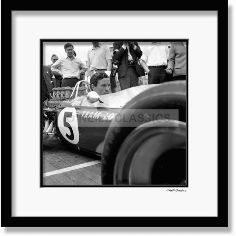 Jim Clark - Framed B&W photograph