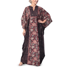 Load image into Gallery viewer, Anokhi Bagru Cotton Floral Print Kaftan Dress