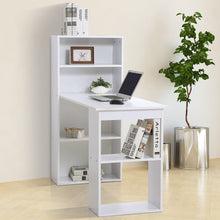 Load image into Gallery viewer, HOMCOM Computer Desk, 120Lx55Dx120H cm-White
