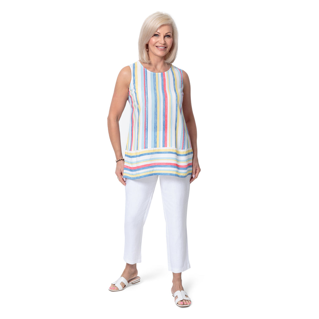 East Athena Stripe Vest Top