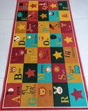 Multi-coloured Alphabet Rugs for Kids room or Nursery - Bright Colours & Anti-slip Rug