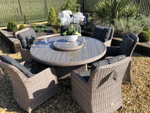 Load image into Gallery viewer, Rattan Garden Furniture Round Dining Set Luxury Premium Garden Furniture Set