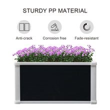 Load image into Gallery viewer, Outsunny Garden Raised Bed Planter Grow Containers for Outdoor Patio Plant Flower Vegetable Pot PP 60 x 60 x 30 cm