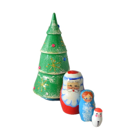 4 Piece Christmas Tree Matryoshka