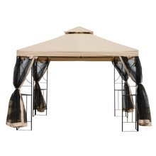 Load image into Gallery viewer, Outsunny 3x3m Outdoor Gazebo Tent W/Netting, 2-tier Roof