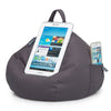 iBeani iPad Cushion & Tablet Pillow Stand - Securely holds any size tablet, eReader or book upto 12.9 inches, hands free comfort at any angle on any surface - Slate Grey