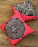Set of 2 Cushion Covers Linen 45 x 45 cm Square Premium Soft Furnishing, Sofas, Beds, Indoor, Outdoor