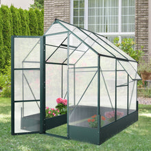 Load image into Gallery viewer, Outsunny Walk-in Greenhouse Outdoor Plant Garden, Temperature Controlled Window, with Foundation, 6.2x6.2ft