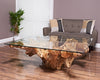 Teak root square coffee table