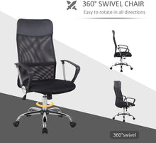 Load image into Gallery viewer, HOMCOM Swivel Office Chair-Black