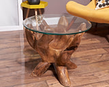 Teak root round coffee table 60cm