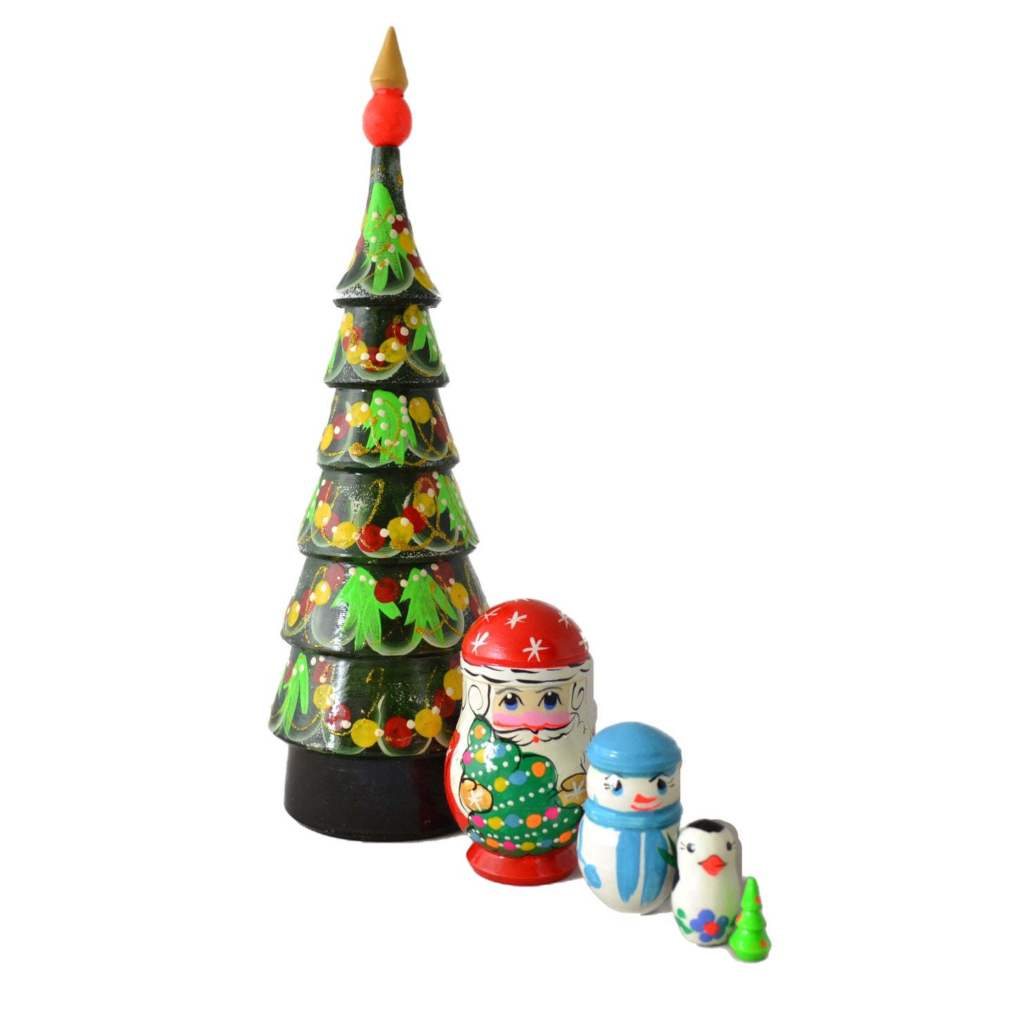 5 Piece Large Christmas Tree Matryoshka