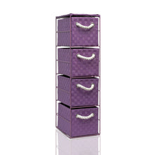 Load image into Gallery viewer, Arpan  4 Drawer Storage Cabinet Unit Ideal for Home/Office/bedrooms (4-Drawer Unit -18x25xH65cm)