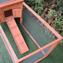 Load image into Gallery viewer, Pawhut 2 Floor Wooden Rabbit Hutch Bunny Cage House Chicken Coop Outdoor Garden Backyard 158 x 58 x 68 cm