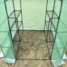 Load image into Gallery viewer, Outsunny Walk in Greenhouse W/ Shelves, M size-Dark Green