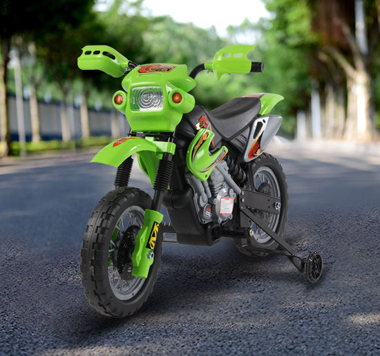 HOMCOM Kids Electric Motorbike Child Ride on Motorcycle 6V Battery Scooter (Green)