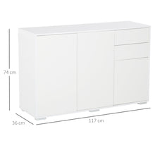 Load image into Gallery viewer, HOMCOM Modern Stylish Freestanding Push-Open Design Cabinet with Drawers, Door, Part Inner Spaces, for Living Room, Bedroom, Bathroom, Kitchen