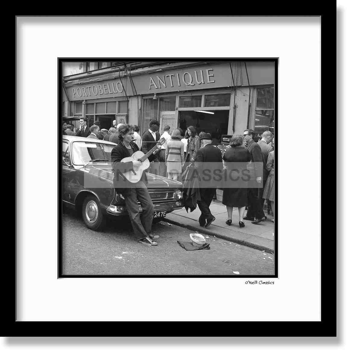 Portobello Antique Market 1967 - Framed B&W photograph