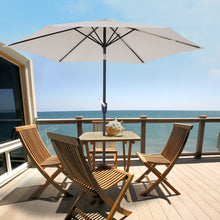 Load image into Gallery viewer, Outsunny 2.7 m Patio Umbrella Sun Shade Tilt Crank Garden Aluminium Frame-Cream White