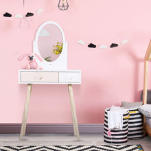 Load image into Gallery viewer, HOMCOM Kids MDF Dressing Table w/ Heart-Shaped Handles White