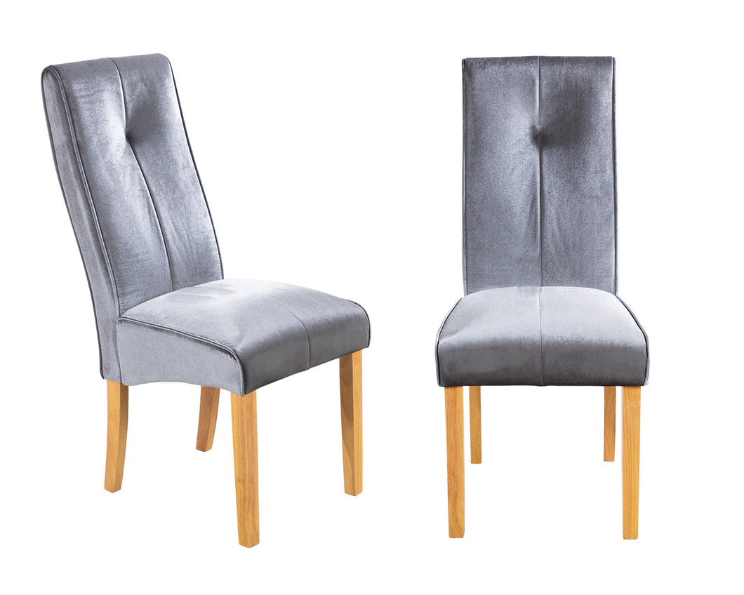Light Grey Velvet Chairs