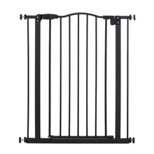 Load image into Gallery viewer, PawHut 74-84cm Adjustable Metal Pet Gate Safety Barrier w/ Auto-Close Door Double Locking Easy-Open Doors Stairs Home Frames Black