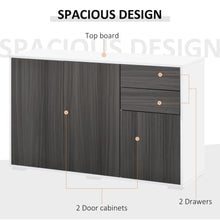 Load image into Gallery viewer, HOMCOM Modern Stylish Freestanding Push-Open Design Cabinet with Drawers, Door, Part Inner Space, for Living Room, Bedroom, Bathroom, Kitchen